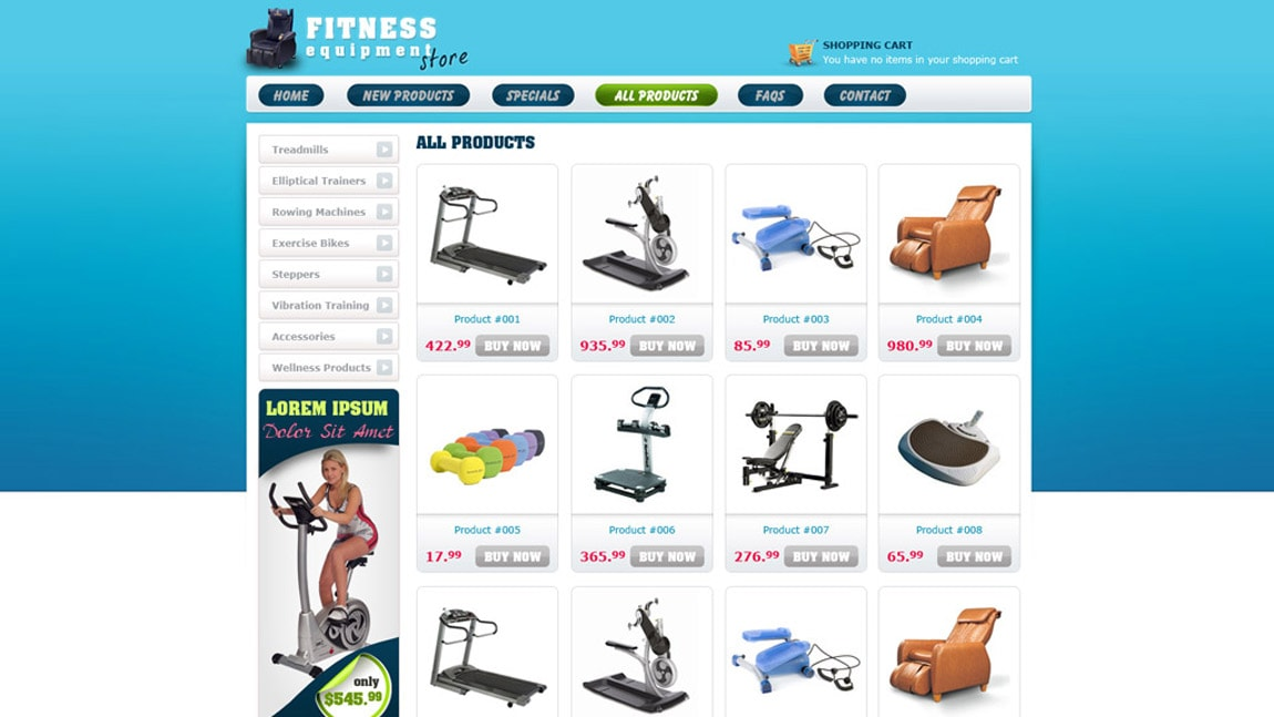 Fitness Equipment Store